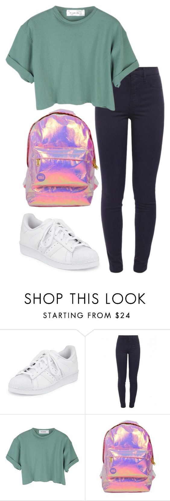 """normal people scare me."" by ebsmith726 ❤ liked on Polyvore featuring adidas, J Brand, StyleNanda and Miss Selfridge"