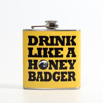 Liquid Courage Flask now featured on Fab.  He don't give a shit on the go!