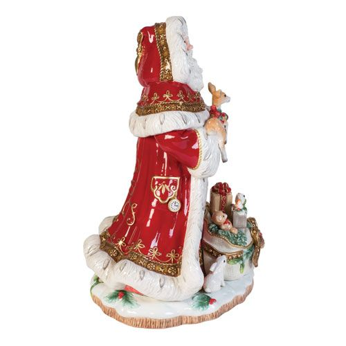 Fitz and Floyd Yuletide Holiday Santa Figurine Décor, Home and Holiday