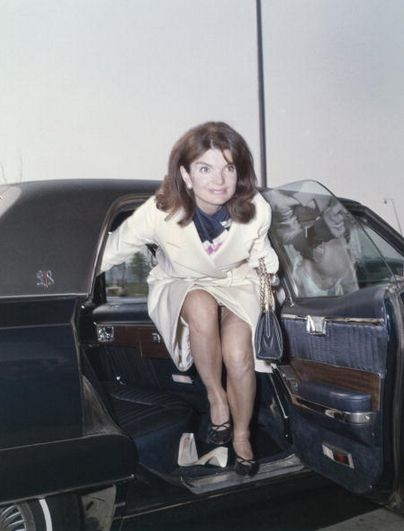 Former First Lady Jacqueline Kennedy Gets Out Of A Car In -8972