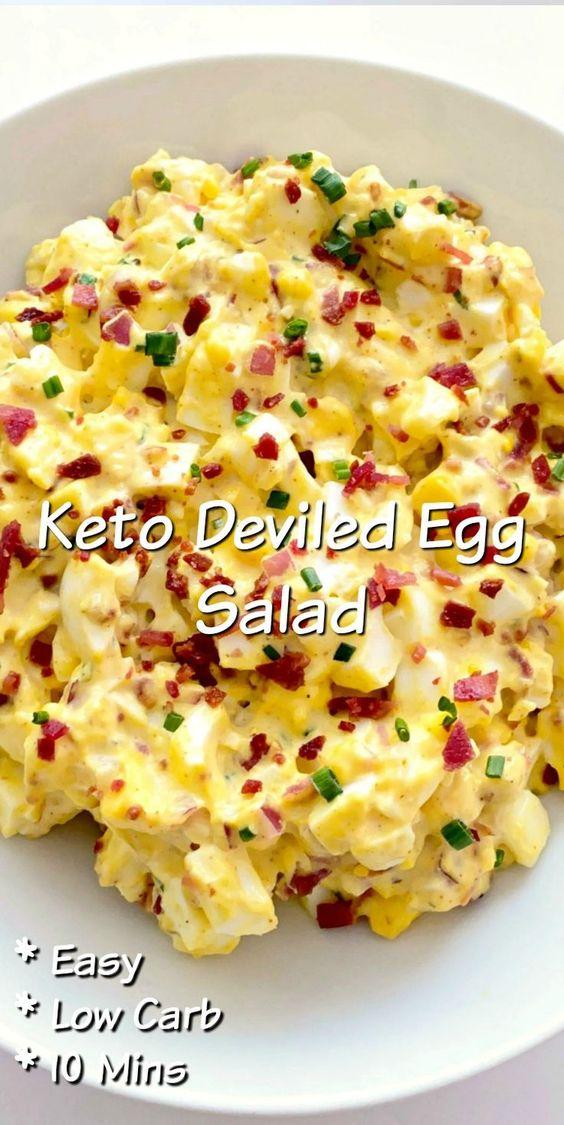 10 Minute Keto Deviled Egg Salad