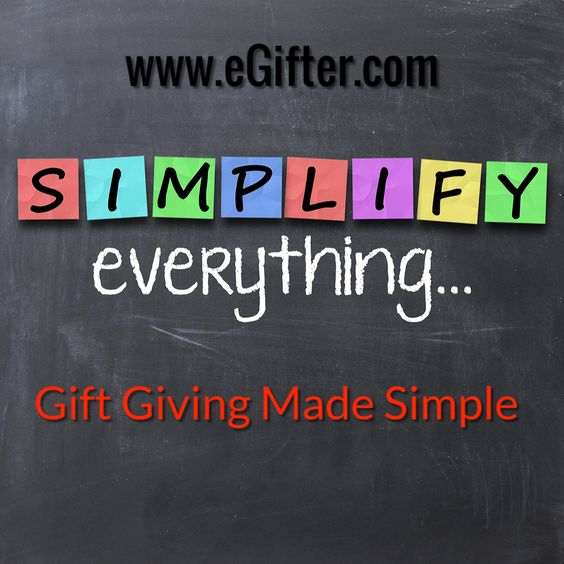 Gift Giving Made Simple.. #eGifter