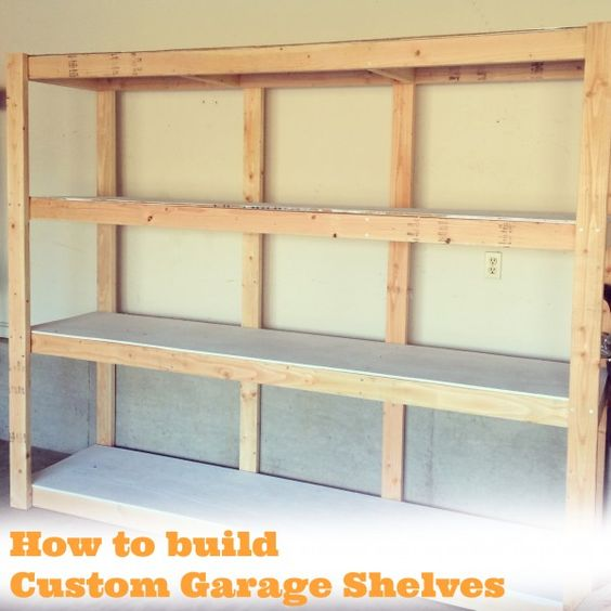 How to build custom garage shelves studios workshops for How to build floating walls in basement