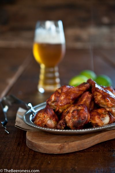 Chili Lime Beer Chicken Wings The whole recipes is at http:/..