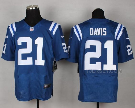 Jerseys NFL Outlet - http://www.yjersey.com/colts-jerseys-nike-21-davis-blue-elite.html ...