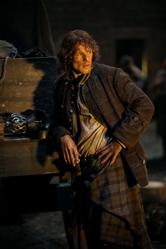 Sam Heughan as Jamie Fraser in Season Two of Ourlander on Starz