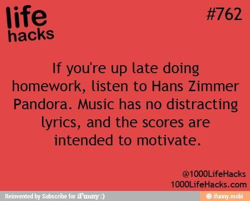 Life hacks homework help