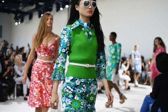 "Michael Kors celebrates ""powerful romance"" at NYFW"