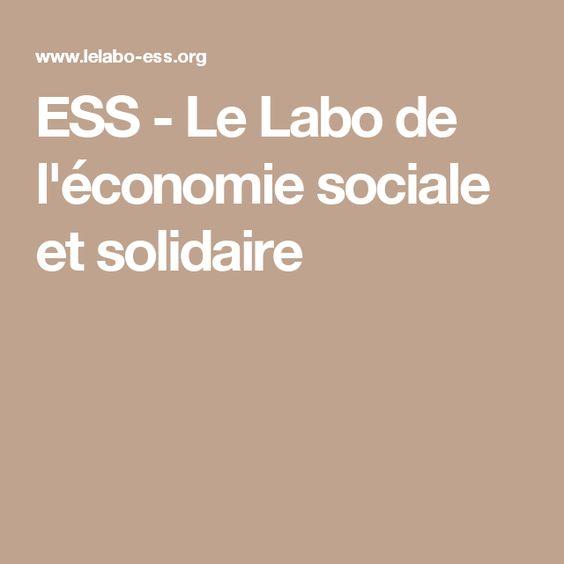 ESS - Le Labo de l'économie sociale et solidaire