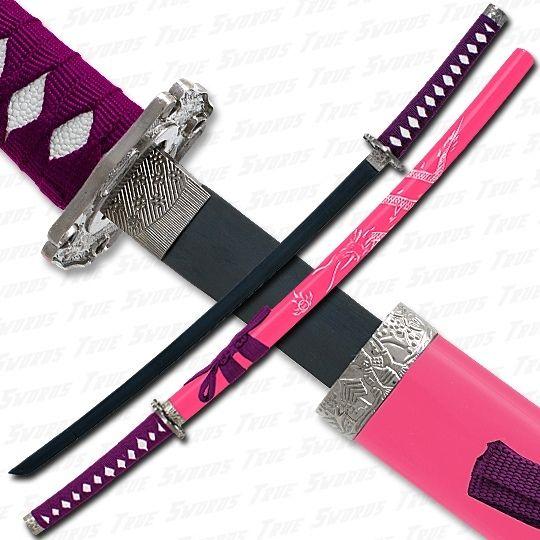 #pink #purple #katana #girly