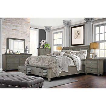 Allenville 6 Piece King Bedroom Set Gray King Bedroom Sets California King Bedroom Sets Bedroom Sets Queen