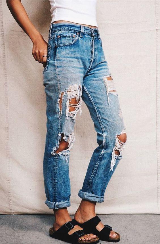ripped jeans. vintage jeans. levi\u0027s.