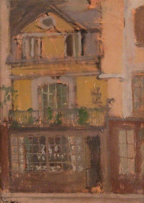 Walter Sickert  A Shop in Dieppe