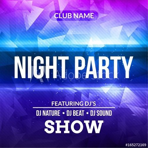 Club Flyer Background Templates Night Dance Party Poster Concert