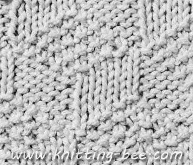 Free Stacked Blocks Knitting Pattern Cast on Multiple of 10 stitches 1st row:...