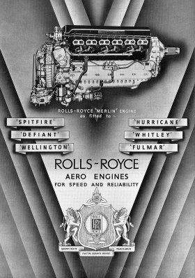 Rolls-Royce Merlin advertisement, 1941 — Art & Memorabilia   1941   prints