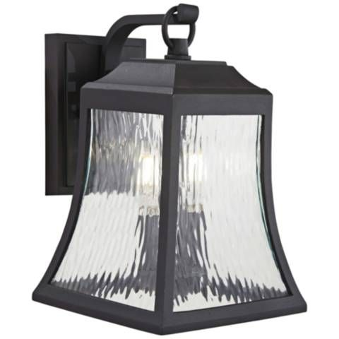Cassidy Park 12 3 4 High Black Outdoor Wall Light 53w07 Lamps Plus Outdoor Wall Lantern Outdoor Sconces Black Outdoor Wall Lights