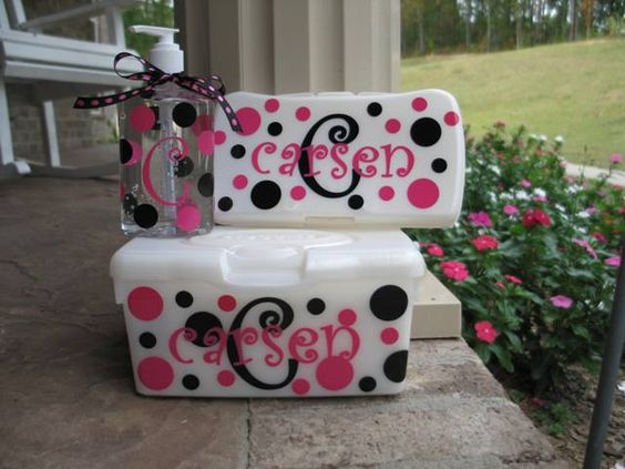 Vinyls personalized baby and shower gifts on pinterest baby wipes and hand sanitizer gift set personalized baby wipe container baby wipes monogrammed baby wipes baby shower gift personalized baby shower gift negle Choice Image