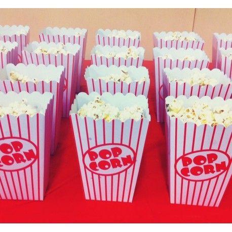 Les boites à pop corn à utiliser pour offrir des gourmandises ou comme décorations de table