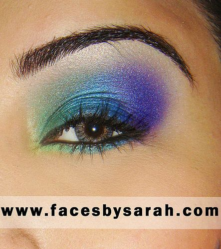 If you had a peacock colored dress for prom, really pretty eye shadow to go with
