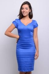 Vestido Evangélico de Sarja com Nervuras - 5503