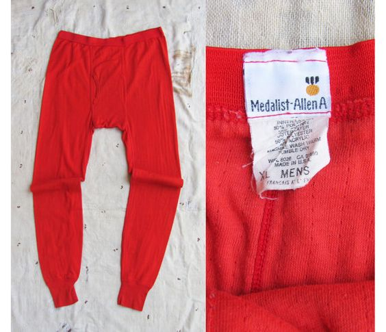 SUMMER CLEARANCE // vintage c. 1960s-70s red cotton-blend long ...