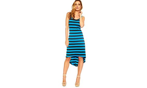 Striped High-Low Dress Deal of the Day | Groupon
