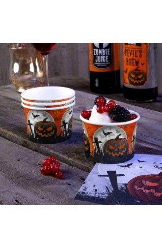 8 Graveyard Gathering Treats Tubs  - Perfect for a Adult or Teenage party matching tableware and decorations available.