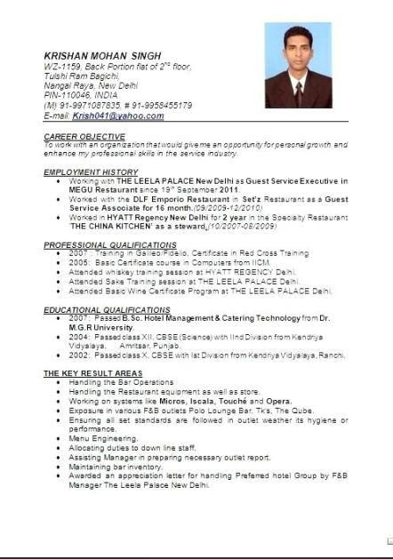 Resume Format Hotel Management Hotel Manager Resume Sample Restaurant Management Format For Chef General In 2020 Resume Format In Word Resume Format Job Resume Format
