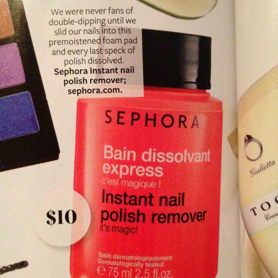 Instant polish remover