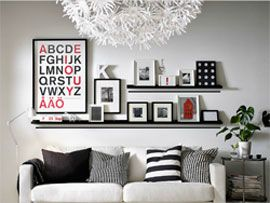 how to set up a gallery in your home merci, ikea!