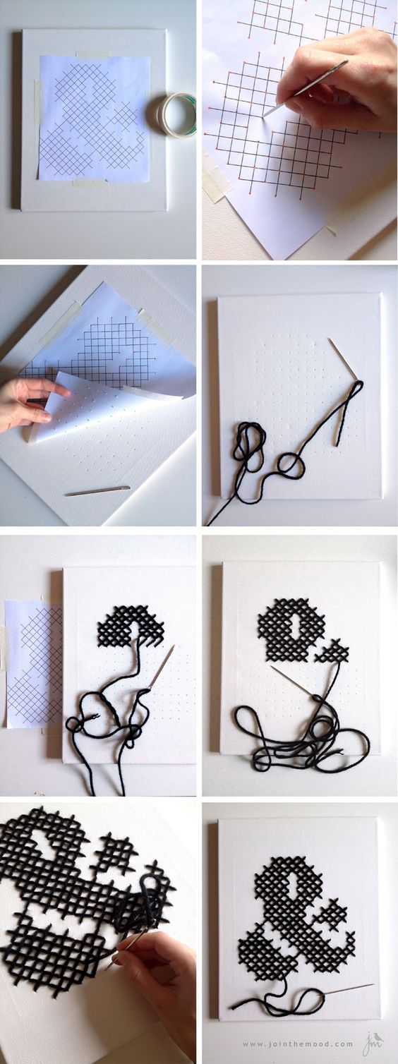 Ampersand frame in cross stitch / cuadro de ampersand en punto de ...