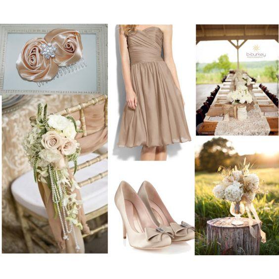 Nude Champagne Rustic Romantic Wedding