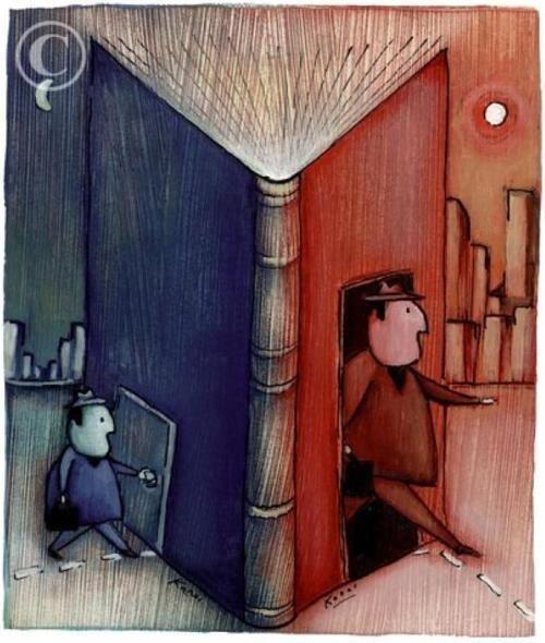 Cuando lees un libro sales por la puerta grande