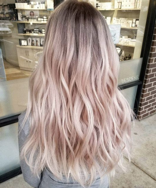 Pink And Rose Gold Tones For 2019 2019 Hairstyles 2019 Pink And Rose Gold Tones For 2019 2019 Bra In 2020 Light Pink Hair Pink Blonde Hair Hair Color Pastel