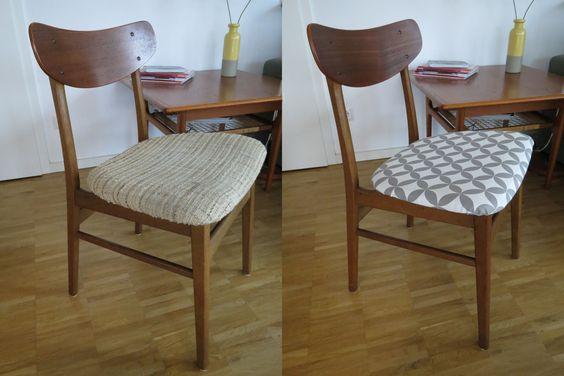 70er Jahre Retro Stühle neu gepolstert mit tollem retro Stoff. (Miriam L.)