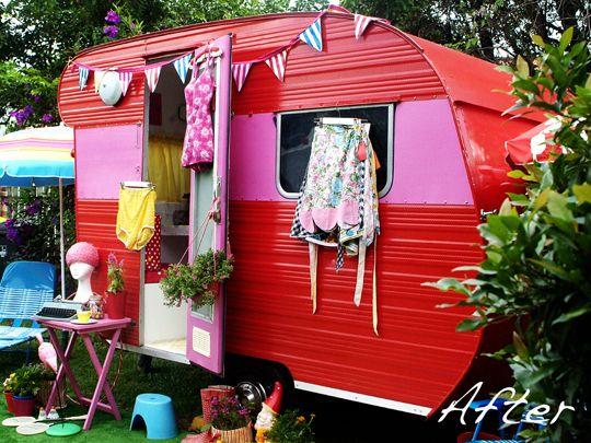 Retaper une caravane prenons le temps caravane pinterest arri re - Decorer une caravane ...