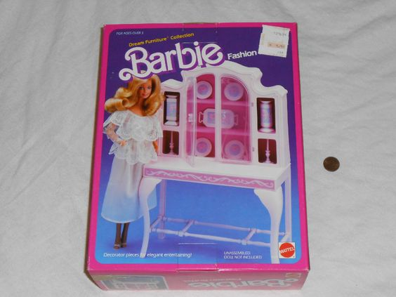 1984 NEW Barbie Dream Furniture Collection FASHION BUFFET Set Mattel 9479 bufett #Mattel