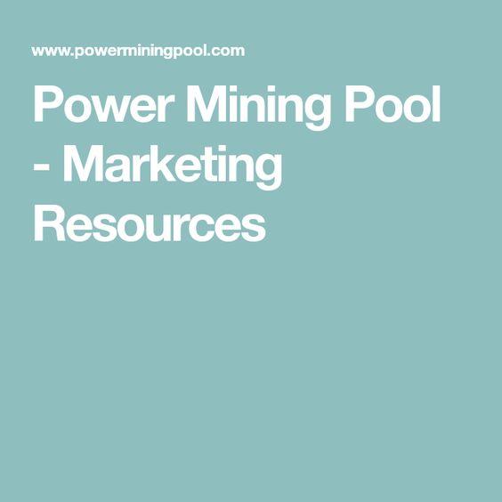 Power Mining Pool Marketing Resources Mining Pool Marketing Resources Power