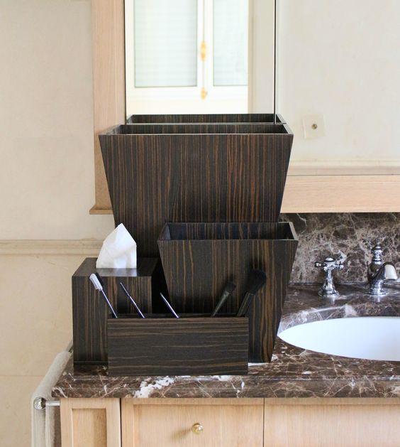 Beautiful Handmade Luxury Bathroom Accessories In Dark Ebony