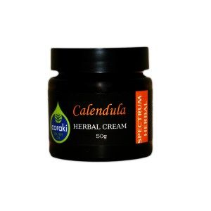 Coraki Calandula Cream. CALENDULA has been traditionally used and known for fast healing to minor wounds and cuts, scratches, abrasions, chafes and nappy rash. Calendula is useful for:  minor Burns including sunburn, Eczema, Jaundice, Warts, minor injuries and wounds. It is also known to reduce pain and reducing swelling caused by the sting of a wasp or bee bites and varicose veins.