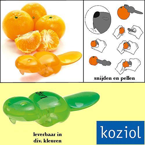 1000x Koziol BO vruchten snijder en peller relatiegeschenken als kunst in uw keuken