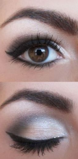 Splendida idea trucco occhi marroni