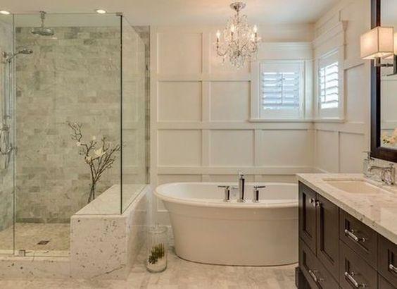 49 Simply Black And White Tile Bathroom Decor Ideas Bathroom Interior Bathroom Renovations Bathroom Interior Design