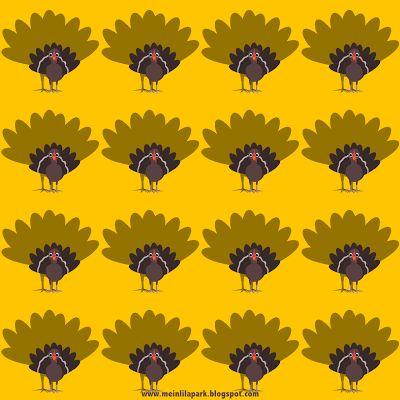 FREE printable Thanksgiving turkey pattern papers