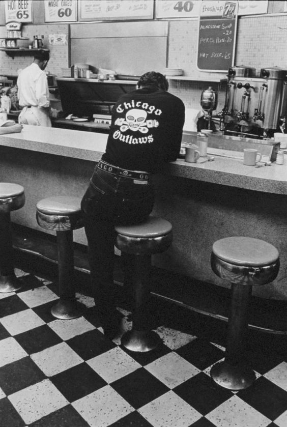 """ICONIC AMERICAN IMAGES BY DANNY LYON   THE BIKERIDERS AND BEYOND  """"Jack, Chicago"""" from The Bikeriders by Danny Lyon, 1965."""