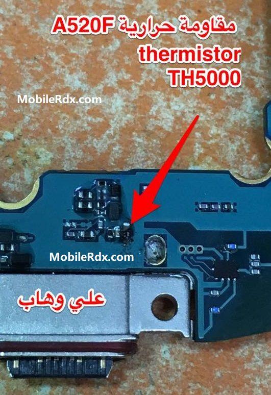 Repair Samsung A520F Charging Paused Battery Temperature Too