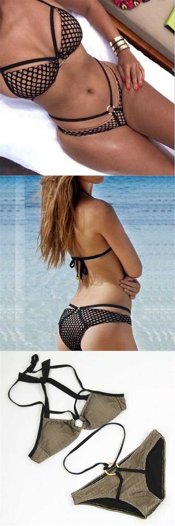 Brazilian Bikini Swimwear 2016 Brand Sexy Swimsuit Summer Women Bathing Suit Maillot De Bain Hollow Out Ladies Beach Biquini $13.99