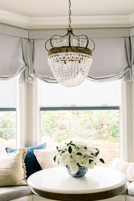 Dining Room Shades Roman Shades Kitchen Country Window Treatments Farmhouse Window Treatments