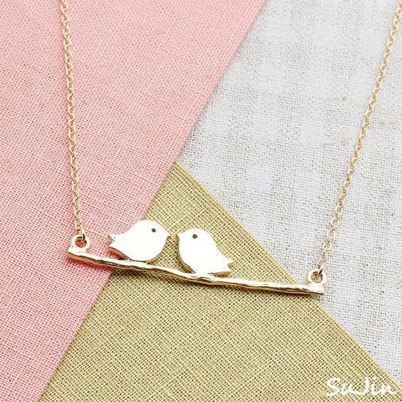 Cute bird necklace